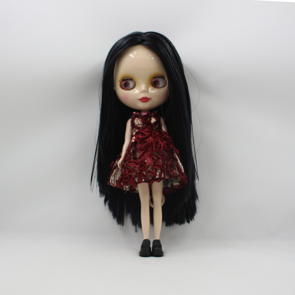Nude Doll For Series No .230BL117 Long black hair Suitable For DIY Change Toy For Girls nude doll for series no 2237 bronze hair