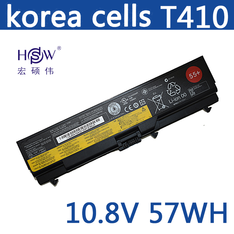 HSW 10.8v 57WH laptop battery FOR Lenovo E40 L512 T410 E50 E420 L520 E425 SL410 T420 E520 T510 E525 bateria кроссовки matt nawill matt nawill ma085amdolz9