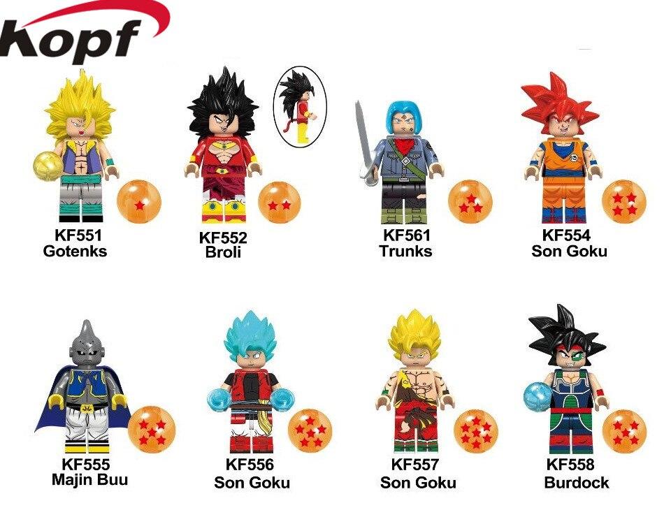 KF6042 Single Sale Super  Trunks Action Dragon Ball Series Son Goku Figures Majin Buu Building Blocks For Children Best Toys