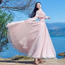 платье женские рукавами-фонариками, макси