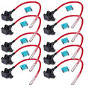 EE support 10Pcs ATM TAP Add A Circuit ATM Low Profile Blade Style Fuse Holder 15A XY01