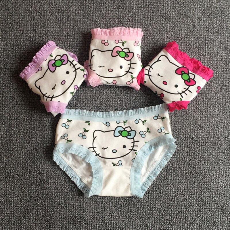 1PC Cute Little Kitty Underwear Children's Underwear Baby Briefs Girls Underwear
