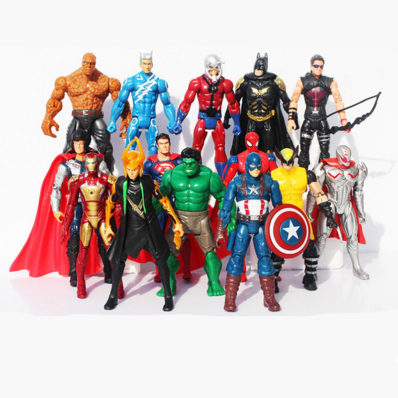 14pcs/set The Avengers 2 Age Of Ultron Hulk Hawkeye Captain America Thor Batman Spider Man Action Figure Toys Gifts Brinquedos юбки ichi юбка