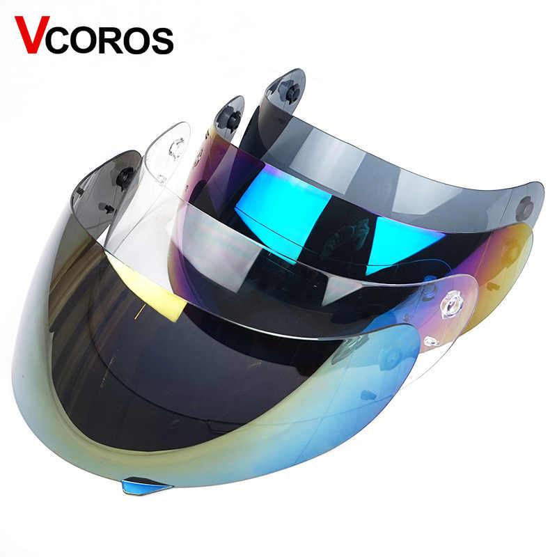 8ec5e642 K3 K4 full face motorcycle helmet visor glass helmet lens shield 4 colors  transparent colorful silver