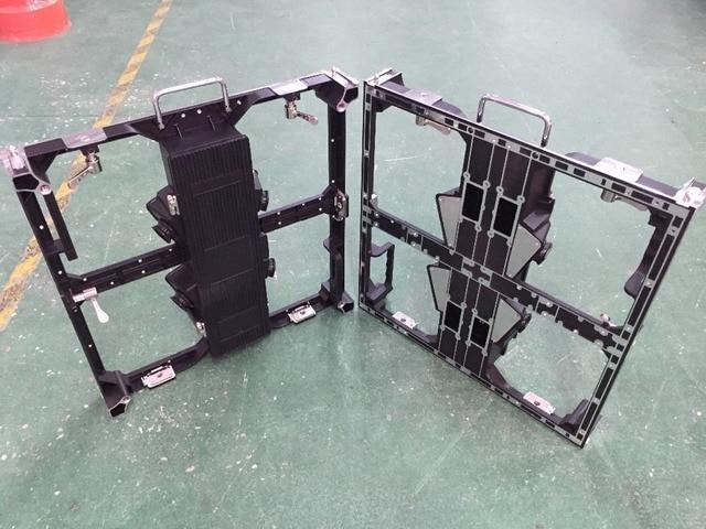 P3.91 et P4.81 armoire vide en aluminium moulé sous pression, panneau 500x500mm, module 250x250mm, mur vidéo LED P3.91