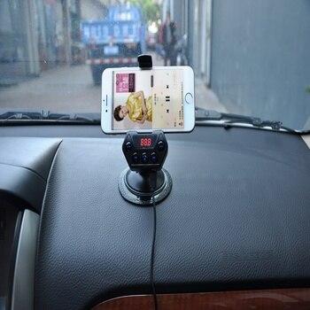 Adaptador De Radio De Coche Bluetooth | Weishan Inalámbrico Bluetooth FM Transmisor Modulador Coche Radio Adaptador Coche MP3 Reproductor Dual USB Coche Cargador Kit Manos Libres Coche
