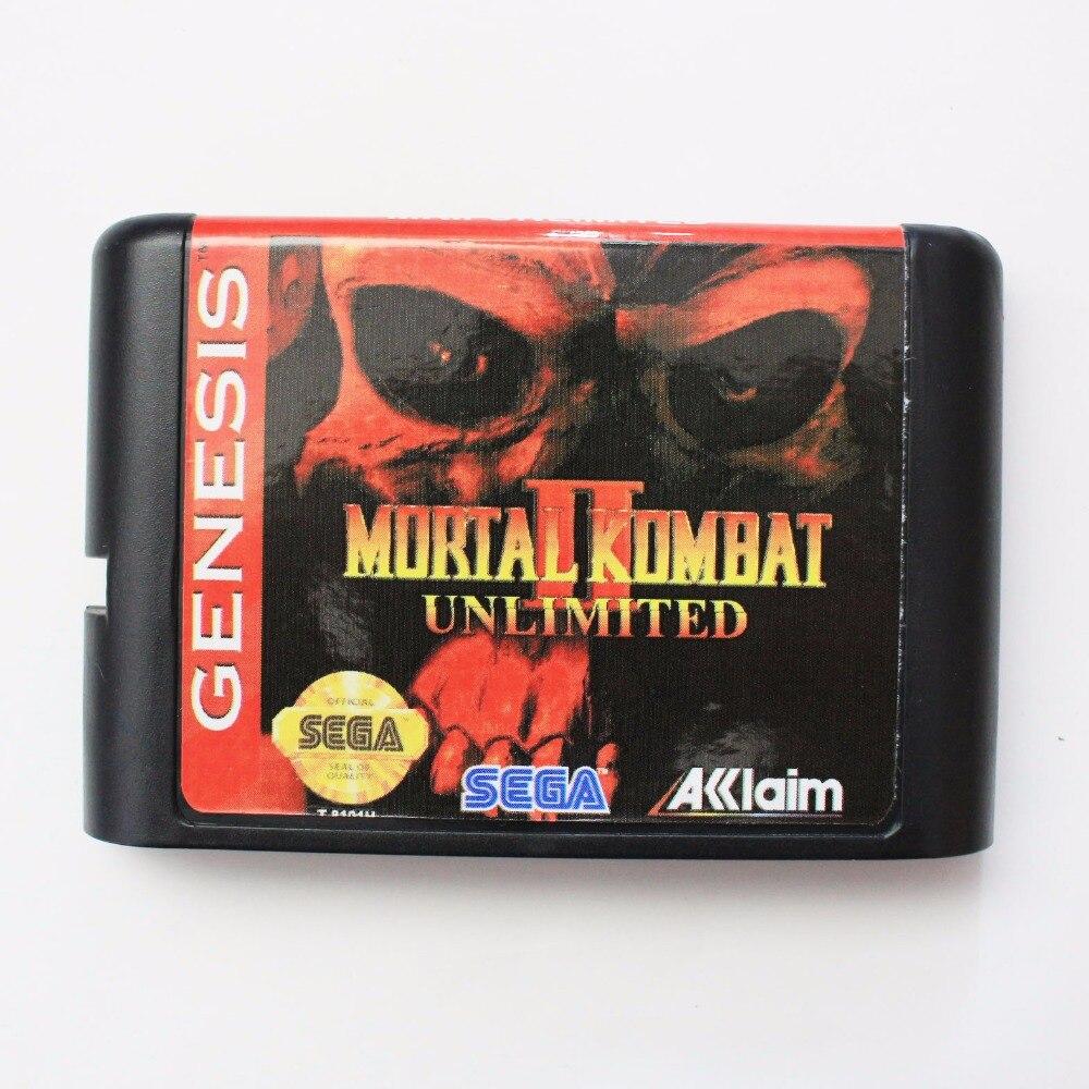 Dedicated Mortal Kombat Ii Unlimited 16 Bit Sega Md Game Card For Sega Mega Drive For Genesis