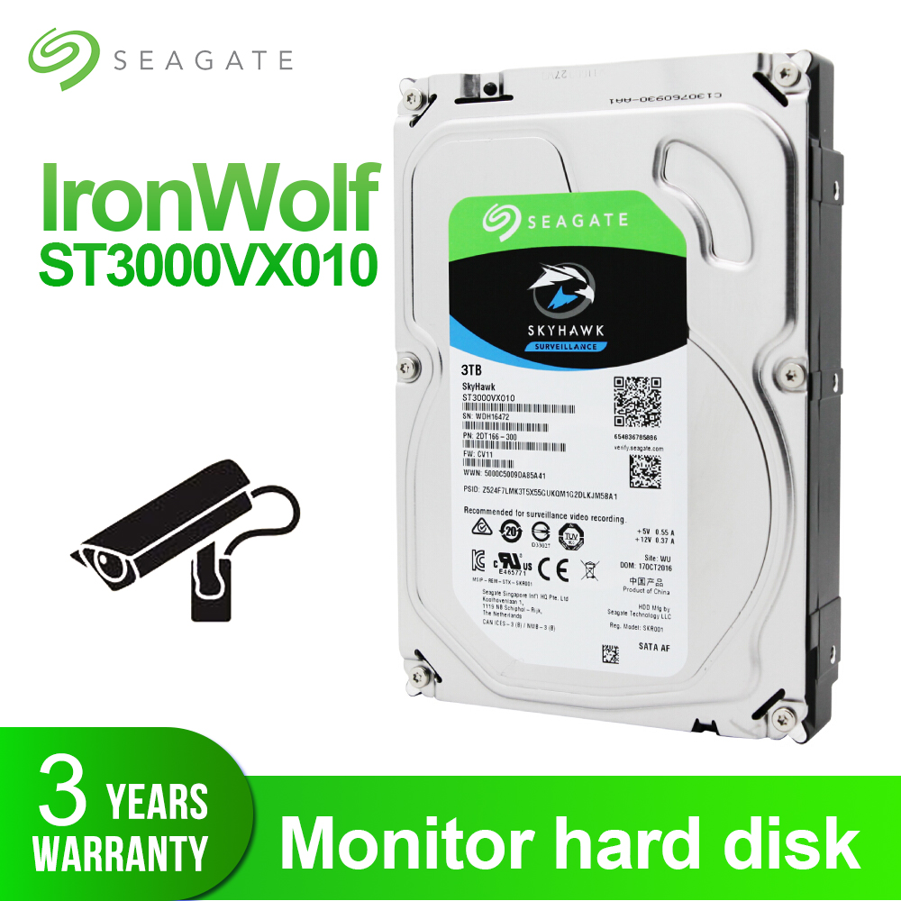 Seagate 4TB 3.5 Video Surveillance HDD Internal Hard Disk Drive 5900 RPM SATA 6Gb/s 64MB Cache HDD For Security ST4000VX007Seagate 4TB 3.5 Video Surveillance HDD Internal Hard Disk Drive 5900 RPM SATA 6Gb/s 64MB Cache HDD For Security ST4000VX007