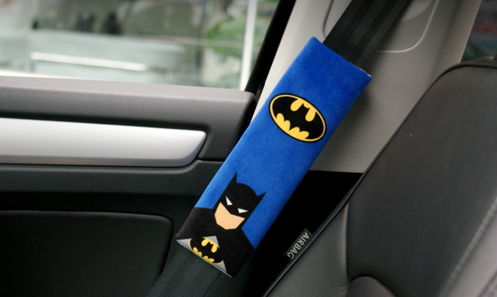 Buy car seat belt cover batman heros
