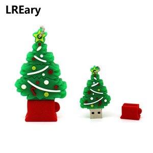Image 2 - Cartoon USB Flash Drive dog USB Flash Drive 4GB 8GB 16GB 32GB 64GB Elk Deer Memory Stick Christmas tree Pen Drive Cookie man