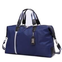 New Men Travel Bags waterproof font b Oxford b font cloth Men s Handbag Round Bucket