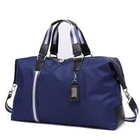 New Men Travel Bags Waterproof Oxford Cloth Men S Handbag Round Bucket Shape High Quality Large