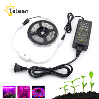 LED Grow Lights DC12V Growing LED Strip Plant Growth Light Set With Adapter And Switch SMD5050