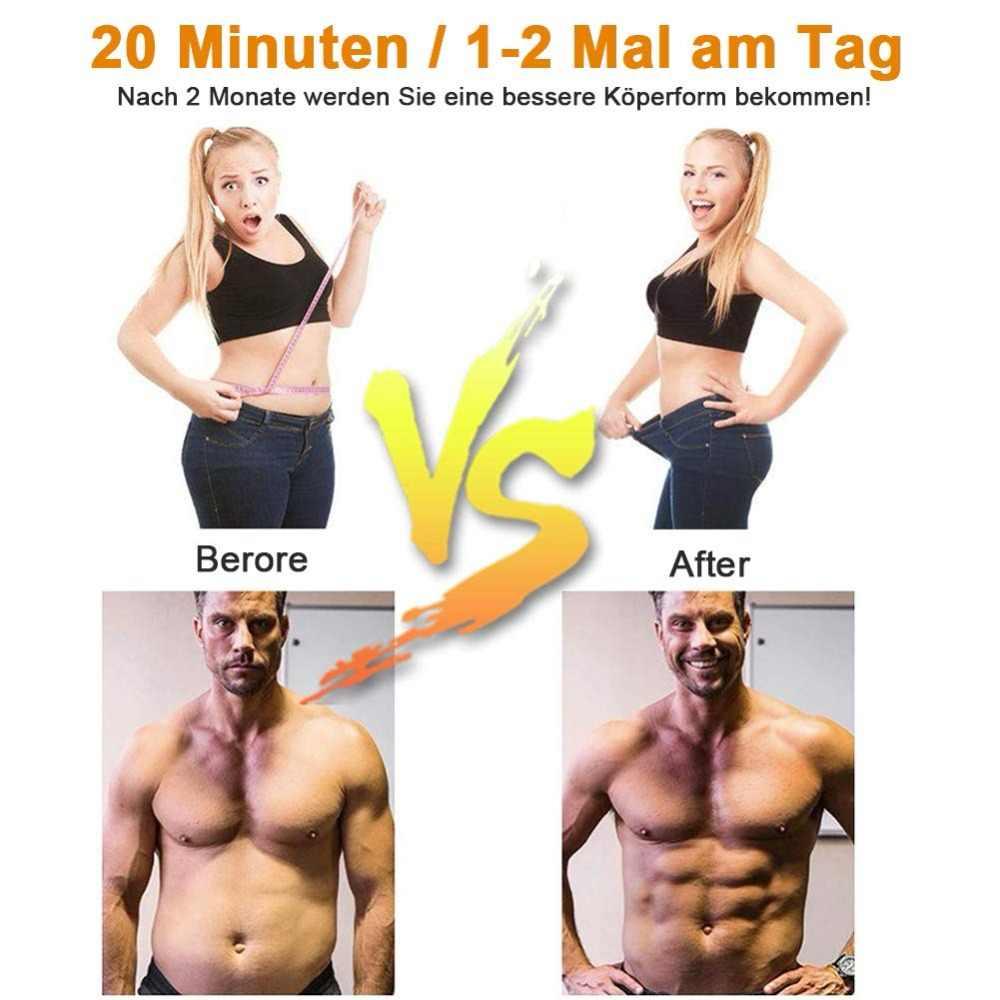 Stymulator mięśni masażysta drgań pas Gym Fitness maszyna do ćwiczeń ABS EMS mięśni trener z tonerem Electrostimul schudnąć