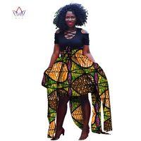 2019 Pattern African Print Ankara Women Skirt Elegant Style Long ribbon Skirt Customized Unique African Ankara Skirt WY2733