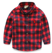 Spring Autumn Boys Shirts Casual Kids Clothes 2015 Fashion Boys Clothes Long Sleeve Boy Shirt Blouse plaid Children Clothing