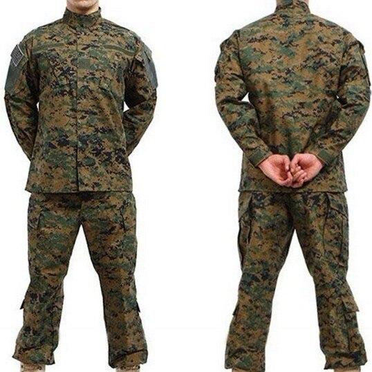 Kids Desert Digital Camo BDU Jacket with Marine Patches Sew On