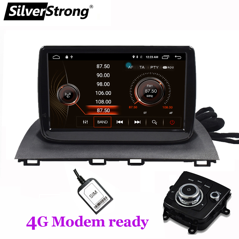 US $377 95 |SilverStrong Android8 1 Car GPS Navigation for Mazda3 Axela 4G  Modem Car Stereo for mazda 3 steering control TPMS support-in Car