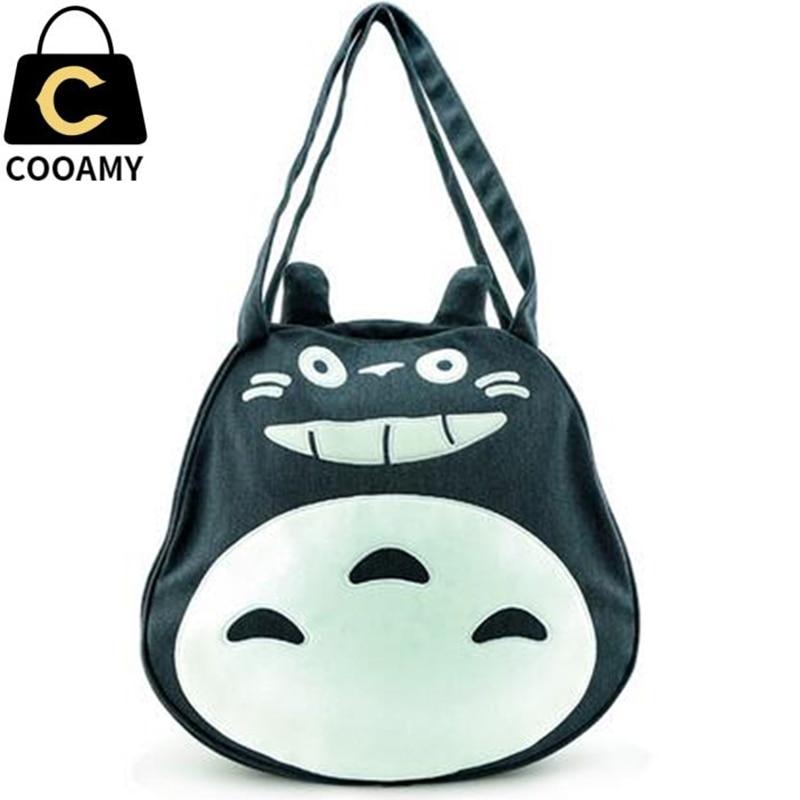 ФОТО Fashion Cute Cartoon Totoro bag  Women School Bags For Teenagers Girls Canvas Women Handbag Tote 2017 Brands Mochila Sac A Dos
