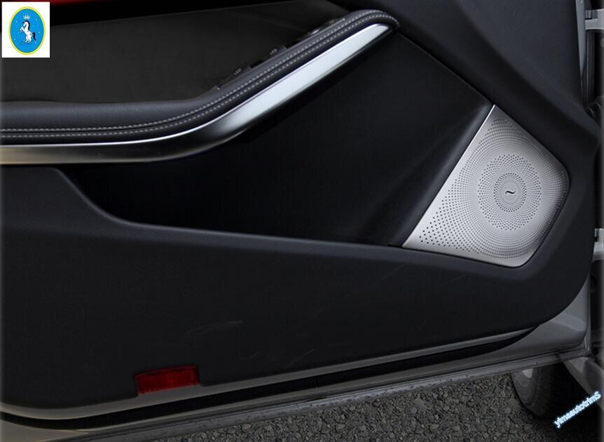Lapetus 4 pièces/ensemble pour Mercedes Benz GLA X156/CLA W117 2015 2016 porte de voiture intérieure haut-parleurs Audio moulage garniture de couverture