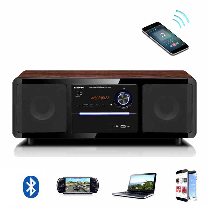 PA350 Home Theater Computer Multimedia Speakers One Machine Body Wooden Home Audio Karaok DVD Player font
