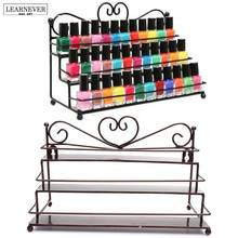4 Styles 3Tiers Metal Nail Polish Shelf Cosmetic Varnish Display Stand Holder Heart Design Women Makeup Wall Rack Organizer Case(China)