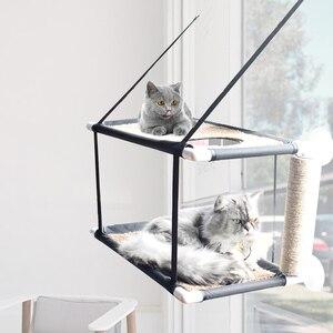 Cat balcony hammock Bearing 20kg Cat Sunny Seat pet waterproof fabric Cat bed cat climbing sleeping mattress single layer double(China)