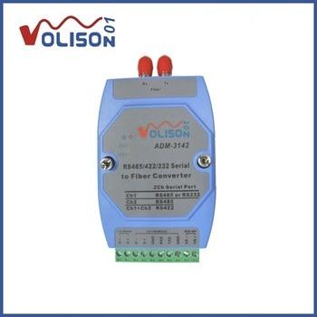 RS232/422/485 bidirectional transceiver data optical transceiver 485 fiber converter ST dual fiber modbus