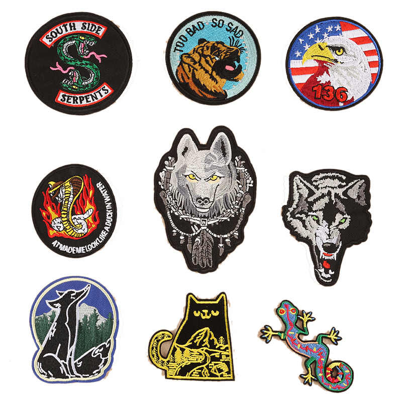 Riverdale Embroidery Badges Accessories Patch Iron on Clothes DIY for Clothing Bags Thermal Labels Applique on Clothing Patches