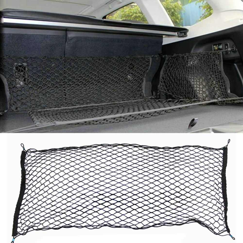 Truck Bed Cargo Net >> 41 X 25 Inches Cargo Net For Suv Truck Bed Or Trunk Elastic Nylon Mesh Universal Rear Car Organizer Net Black 276274
