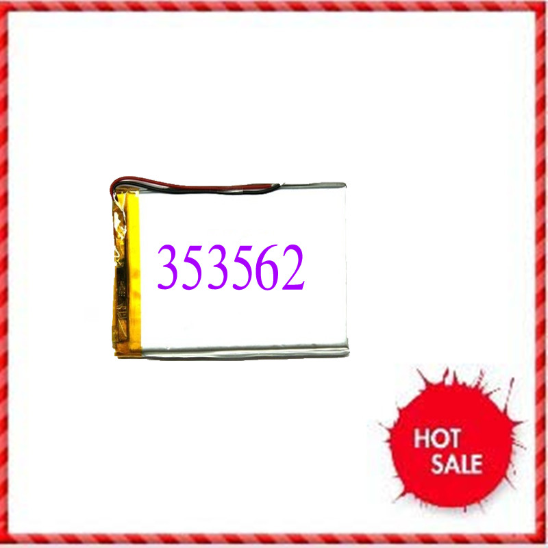 780mAh polymer lithium battery 353562 3.7V MP4/mp3/GPS/ medical equipment rechargeable battery Rechargeable Li-ion Cell