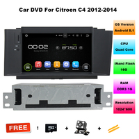Octa Core Android 6 0 Car DVD GPS For Citroen C4 C4L NEW With Bluetooth Phonebook