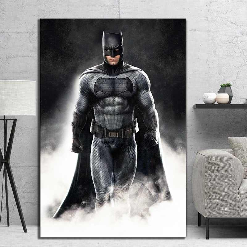 Wall Artwork Prints Poster Pictures Home Decor 1 Panel The Dark Knight Batman Movie Canvas Paintings For Living Room Framework