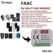 RX de MULTI 300-900 mhz Receptor AC DC 9-30 v 433.92 mhz FAAC Controle Remoto Transmissor livre grátis