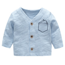2018 Baby Boys Blue Coats Jackets Autumn Cartoon Cotton