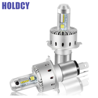 HoldCY H4 9003 HB2 Hi Lo LED Car Headlight Bulb 40W 8000LM 6500K All In One