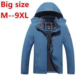 8XL 6X Мужская куртка, теплая, водонепроницаемая, ветрозащитная куртка, 2018