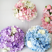 Silk Flower Ball Artificial DIY Rose Hydrangea Flower Strip Wedding Roman Column Decoration Hotel Shop Window Table Accessorie