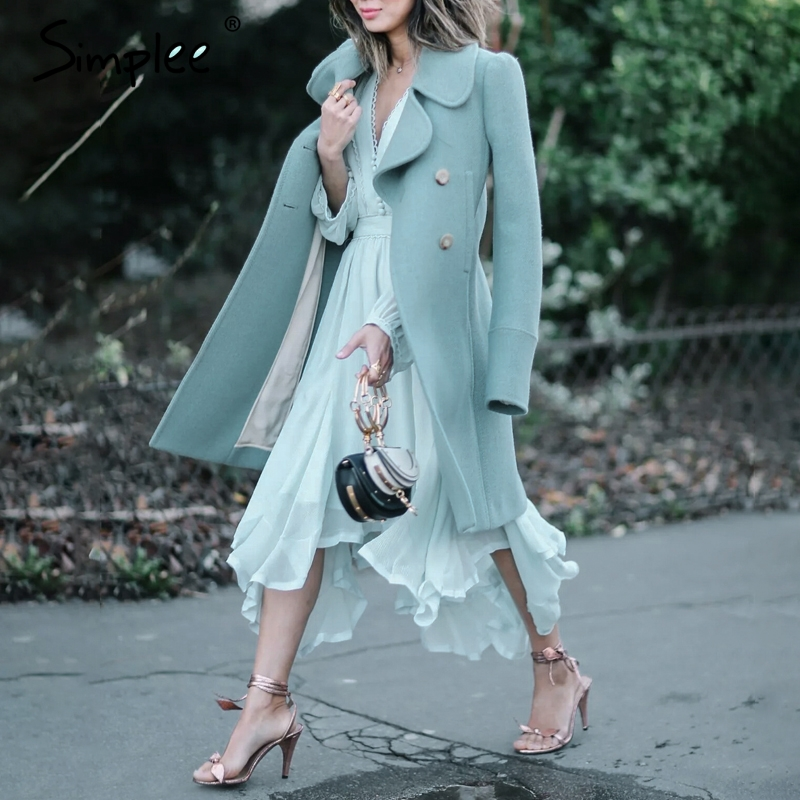 CUERLY Elegant mint green dress women Long sleeve chiffon dresses summer Korean style casual pompon plus size vestidos 2019 in Dresses from Women 39 s Clothing