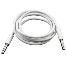 High Quality   4 Pole 1m 3.5mm Male Record Car Aux Audio Cord Headphone Connect Cable