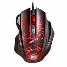 Professional Macro Programming 7 Buttons 3200DPI Gaming Mouse USB Wired Optical Computer Game Mouse Mice for PC Laptop