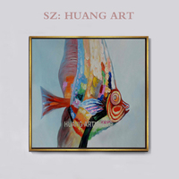 Professional Artist Pure Hand painted Animal Fish Carp Oil Painting on Canvas Beautiful Koi Oil Painting for Wall Art
