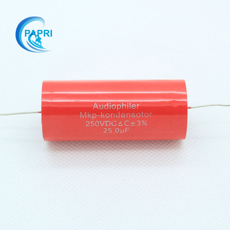 PAPRI Free Shipping 2*Audiophiler MKP 25uf 250VDC Audio Grade AXIAL Capacitor For Tube G ...