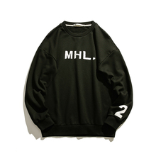 2019 Spring Japanese Stylish Round Neck Fashion Printing Letter Loose Hoodies Men Single Sweatshirt Harajuku Pullon Male M-XL