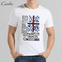 CUOKA Brand clothing Tshirt British flag Print T-shirt Funny Pattern T Shirt Fashion Hip hop O-neck Men Women Cool Style Tee