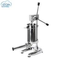 2L ручной прибор для набивки сосисок коммерческих колбаса чайник машина Нержавеющаясталь шприц для сосисок с 4 воронки Кухня инструмент