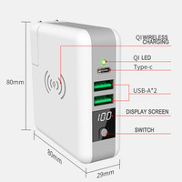 Qi Wireless Charger Portable Power Bank 6700Mah Type C Wall Charger Adapter 5V 3A USB Charging