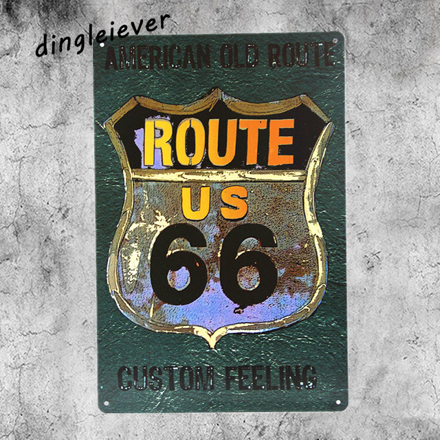 An old Route 66 vintage metal Sign plates bar wall decor vintage ...