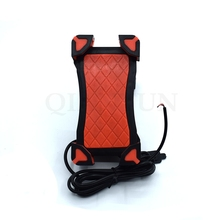 Universal Motorcycle Phone Holder Mobile Stand For Moto Support USB Charger Yamaha FZ6 FAZER FZ6R FZ8 FZ1 XJ6