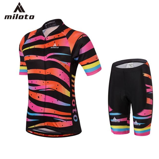 Miloto Women Summer Cycling Jerseys Set Ropa Ciclismo Cycling Clothing Pro  Team Cycling Sets Gel Pad Bib Shorts Shirts Set Women 9efa54df2